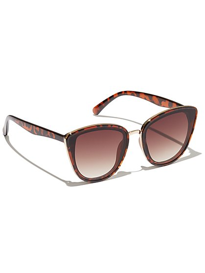 Plus Size Cheetah Cat Eye Sunglasses - Fashion To Figure