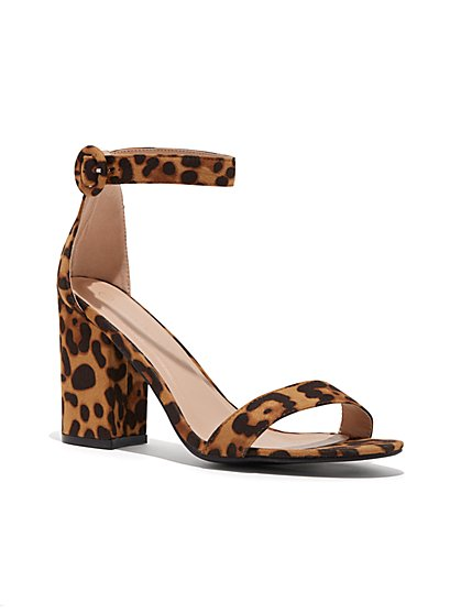 Plus Size Cheetah Print Heels - Wide Width - Fashion To Figure