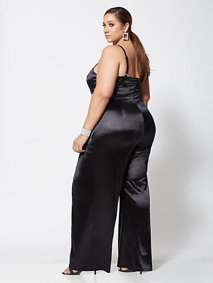 d59f390795c9d ... Plus Size Cherie Rhinestone-Waist Jumpsuit - Fashion To Figure