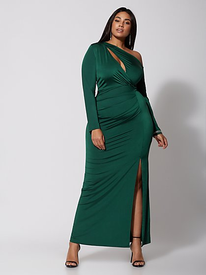 Plus Size Chloe High-Slit Maxi Dress - Fashion To Figure