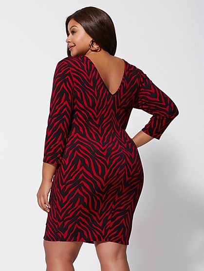 2d033e0e9a6 ... Plus Size Chrissie Drape-Front Dress - Fashion To Figure ...