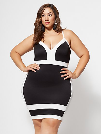 Plus Size Christine Colorblock Bodycon Dress - Fashion To Figure