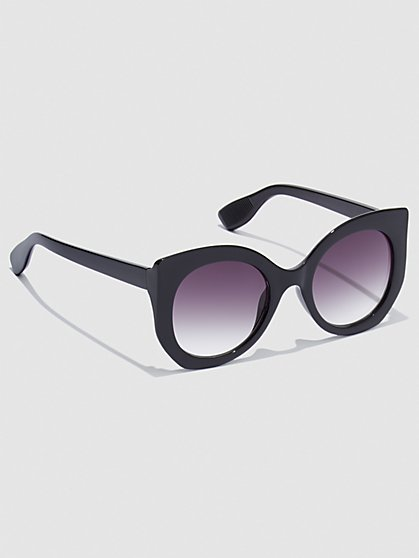 Plus Size Chunky Round Sunglasses - Fashion To Figure