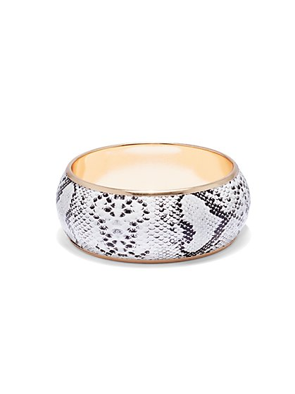 Plus Size Chunky Snake Print Bangle Bracelet - Fashion To Figure
