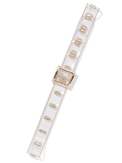 Plus Size Clear Grommet Belt - Fashion To Figure