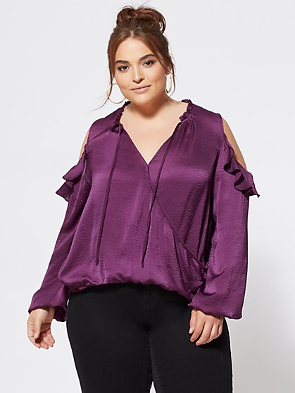 Plus Size Clementina Satin Top - Fashion To Figure