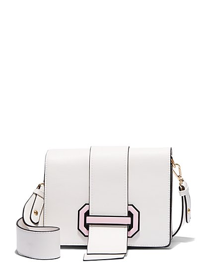 Plus Size Colorblock Buckle Shoulder Bag - Fashion To Figure