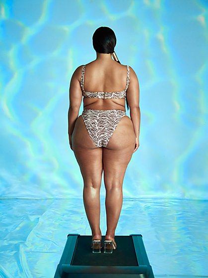 Plus Size Cookie V-wire Bikini Bottom - Tabria Majors x FTF - Fashion To Figure