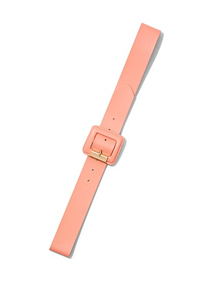 Plus Size Coral Buckle Belt - Fashion To Figure