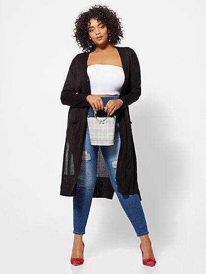 Plus Size Courtney Duster Cardigan - Fashion To Figure