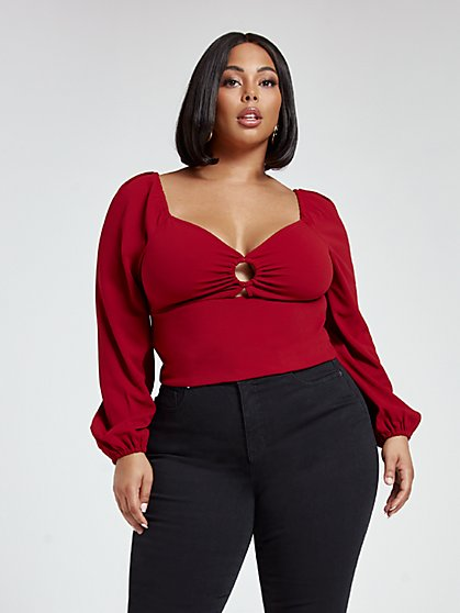 Plus Size Crystal Sweetheart Top - Fashion To Figure