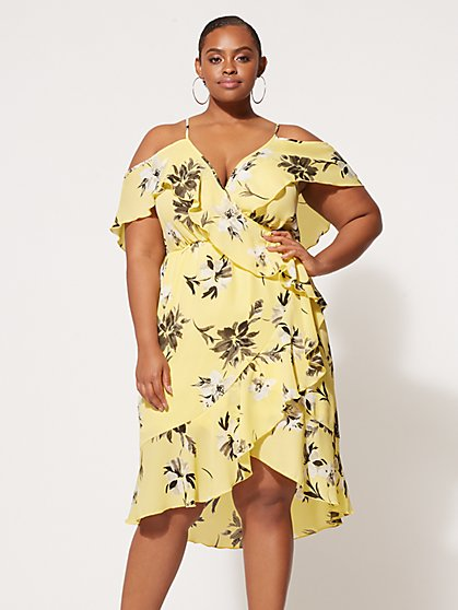 Plus Size Dahlia Floral Dress - Fashion To Figure