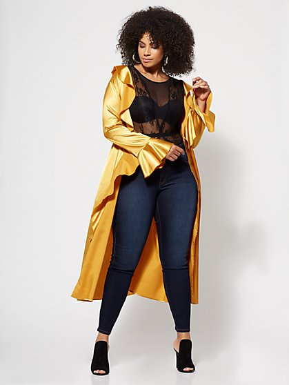 Plus Size Daisy Satin Duster - Fashion To Figure