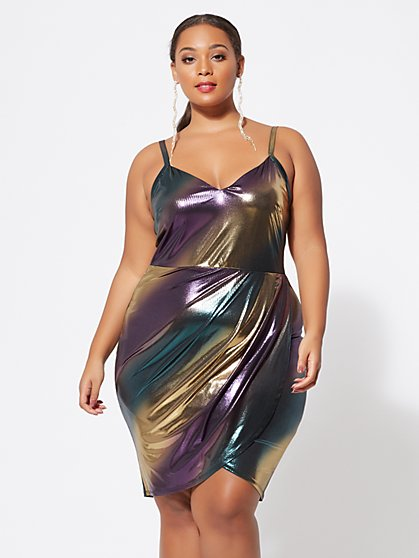 Plus Size Daleyza Metallic Tank Dress - Fashion To Figure