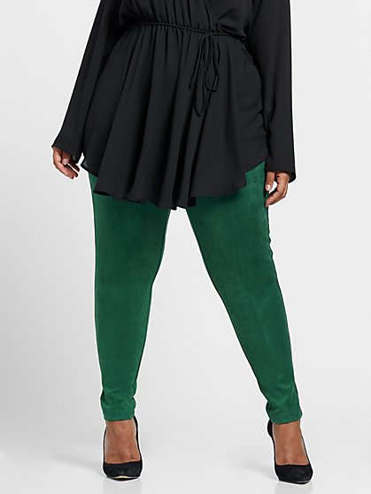 Plus Size Damica Faux-Suede Leggings - Fashion To Figure