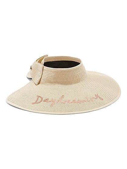 Plus Size Day Dreaming Straw Visor - Fashion To Figure