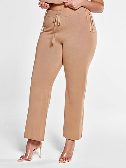 Plus Size Deana Drawstring Knit Pants - Fashion To Figure