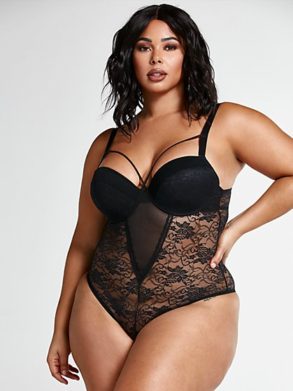 Plus Size Deborah Strappy Lace Bodysuit - Fashion To Figure