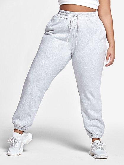 Plus Size Delia French Terry Jogger Pants - Fashion To Figure
