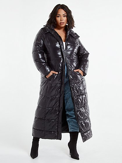 Plus Size Denise Ankle Length Puffer Coat - Fashion To Figure