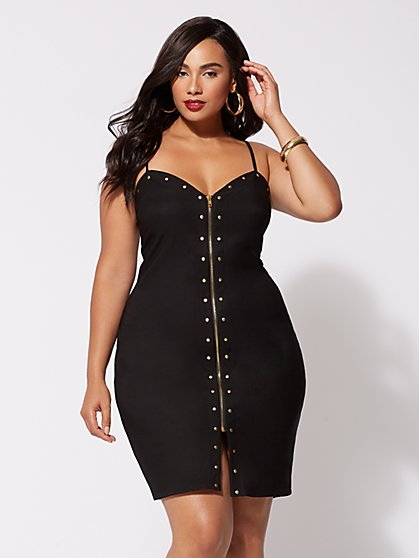Plus Size Denise Studded Bodycon Dress - Fashion To Figure
