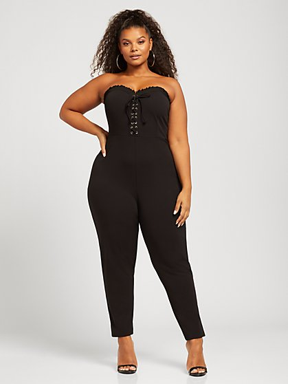 Plus Size Destiny Strapless Jumpsuit - Fashion To Figure