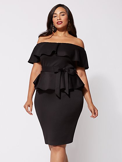 Plus Size Diana Off-Shoulder Dress - Fashion To Figure