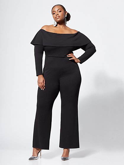 Plus Size Dion Wide-Leg Jumpsuit - Fashion To Figure