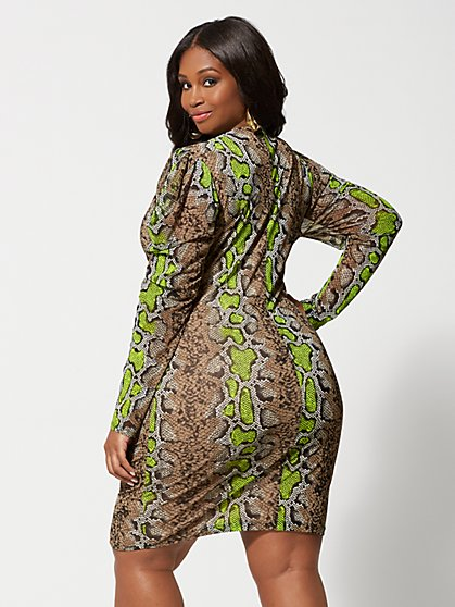 48062be48ca ... Plus Size Dita Snake Print Bodycon Dress - Fashion To Figure ...