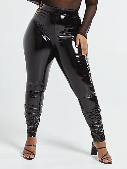 Plus Size Donna Vinyl Leggings - Fashion To Figure