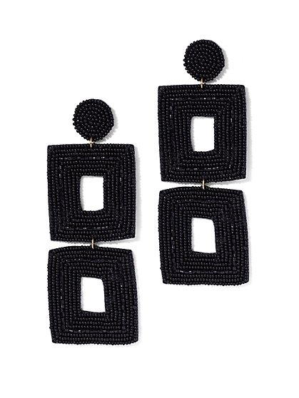Plus Size Double Square Dangle Earring - Fashion To Figure