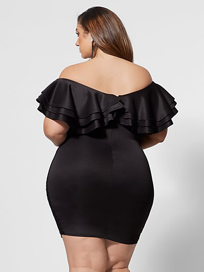 be4abd69850ff ... Plus Size Drama Ruffle Bodycon Dress - Fashion To Figure ...