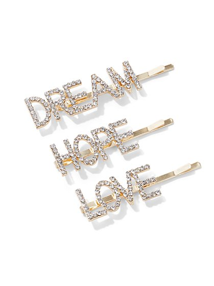 Plus Size Dream Hope Love Hair Pins - Fashion To Figure