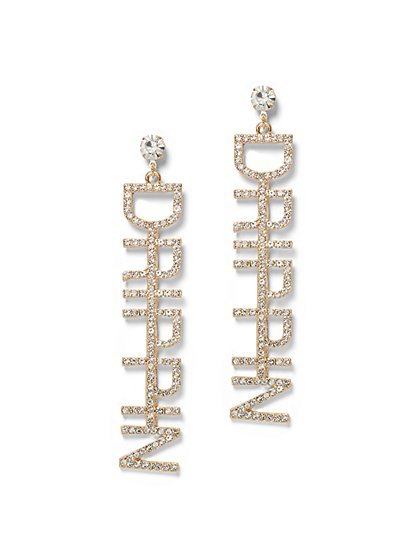 Plus Size Drippin Rhinestone Earring - Fashion To Figure