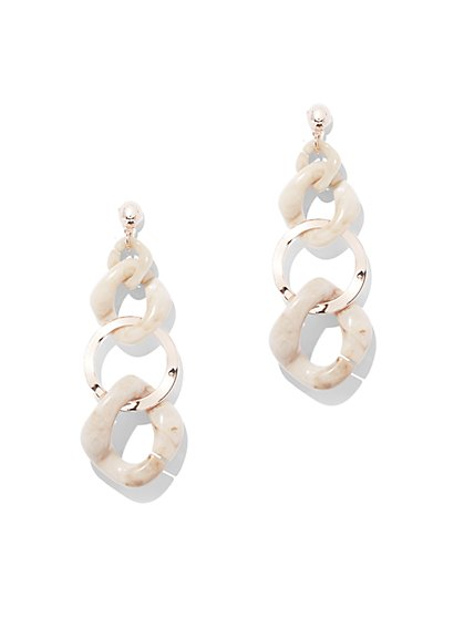 Plus Size Drop Chain Earring - Fashion To Figure