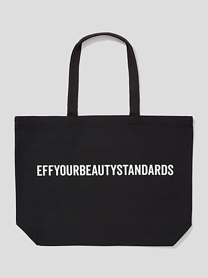 Plus Size EYBS Black Tote Bag - Fashion To Figure