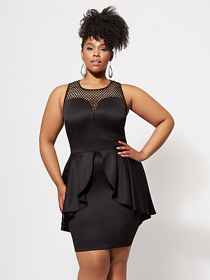 Plus Size Erika Peplum Dress - Fashion To Figure