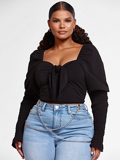 Plus Size Etta Puff Sleeve Sweetheart Top - Fashion To Figure