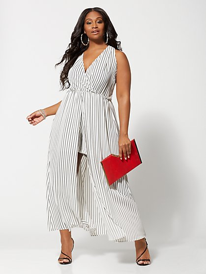 459c5e8536e NAVY. New Arrival. Plus Size Ettie Romper Maxi Dress - Fashion To Figure ...