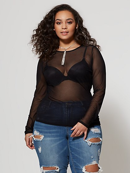 Plus Size Evelyn Scoop Neck Top - Fashion To Figure