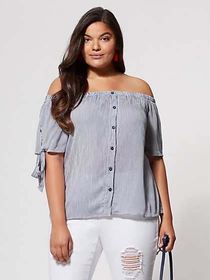 Plus Size Debbie Off-Shoulder Top - Fashion To Figure