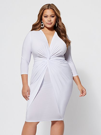 Plus Size Emery Twist-Front Dress - Fashion To Figure