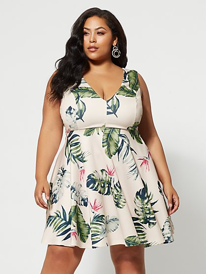 Plus Size Mindy Floral Dress - Fashion To Figure