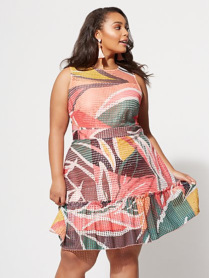 Plus Size Polly Flare Dress - Fashion To Figure