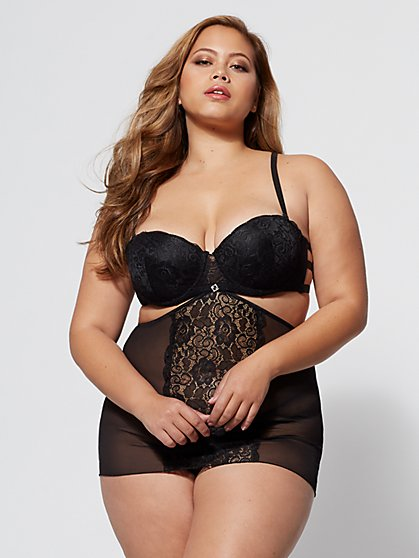 Plus Size Rebecca Babydoll Lingerie Set - Fashion To Figure