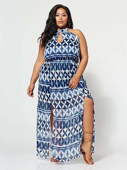 Plus Size Santorini Maxi Dress - Fashion To Figure