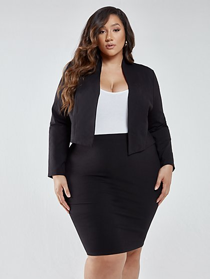 Plus Size Farrah Pull-on Pencil Skirt - Fashion To Figure