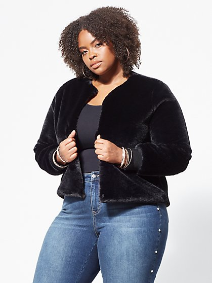 Plus Size Faux-Fur Chubby - Fashion To Figure