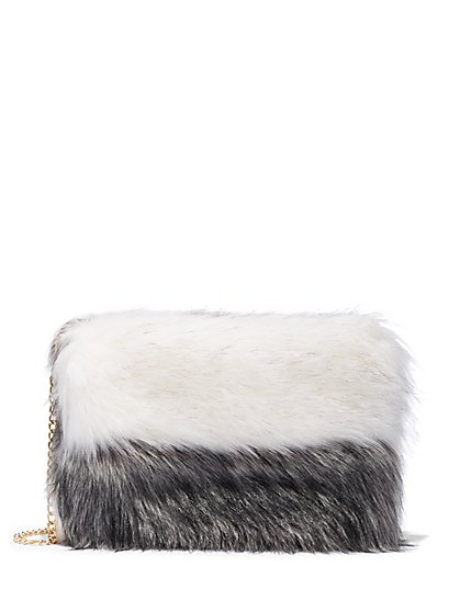 Plus Size Faux-Fur Clutch - Fashion To Figure