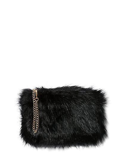 Plus Size Faux-Fur Crossbody Bag - Fashion To Figure